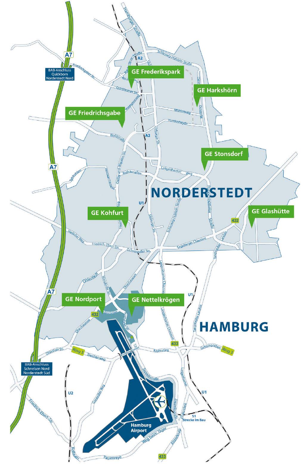 Gewerbegebiete Egno I Nordport I Frederikspark