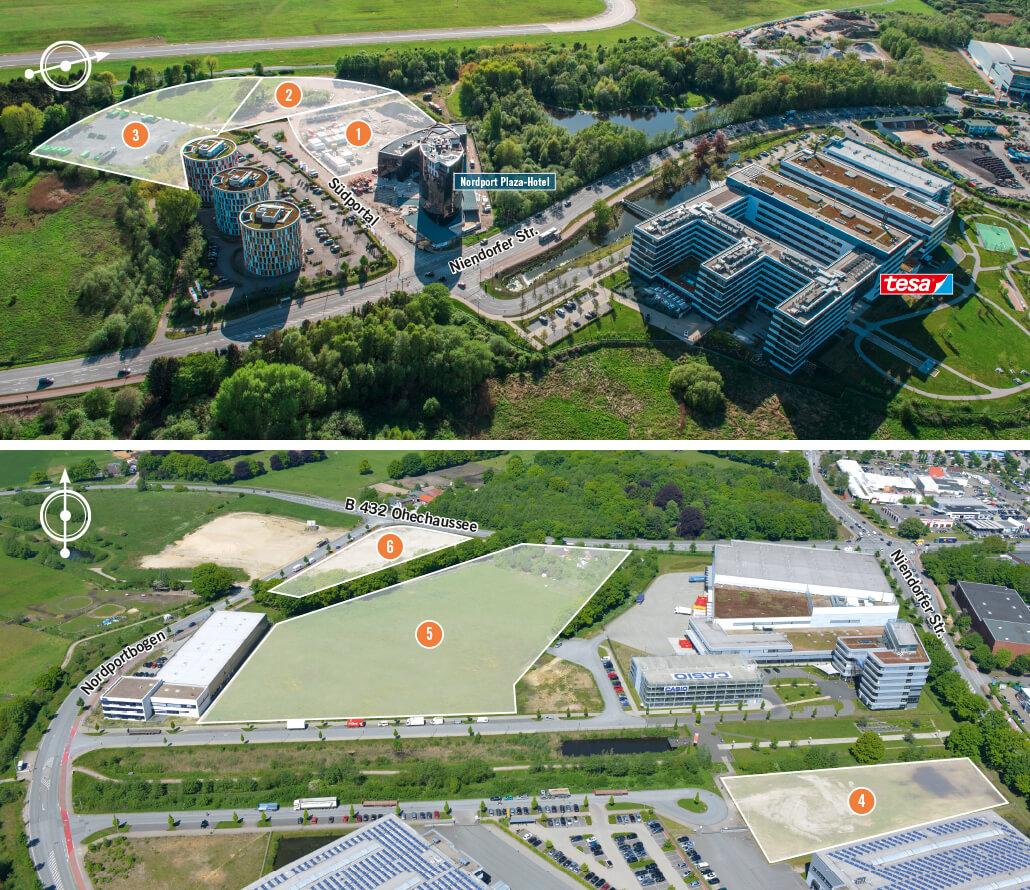 Nordport NP Expose Flächen 1-6 Hotspots