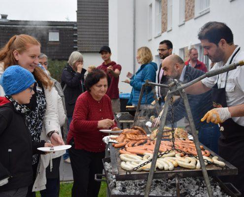 EGNO Eröffnungsfest Asylbewerberunterkunft Segeberger Chaussee 2017