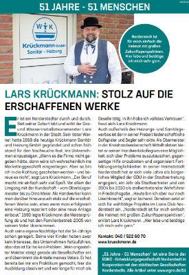 Lars Krückmann: Stolz auf die erschaffenen Werke