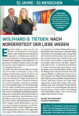 Wolfhard G. Tietgen: Nach Norderstedt der Liebe wegen
