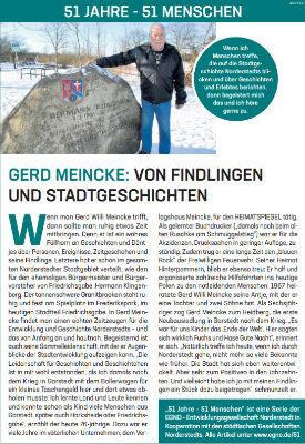 Gerd Meincke: Von Findlingen und Stadtgeschichten