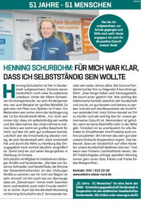 Henning Schurbohm: Für mich war klar, dass ich selbständig sein wollte.
