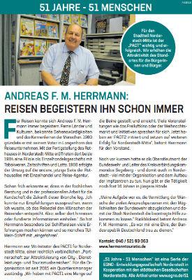 Andreas F. M. Herrmann: Reisen begeistern ihn schon immer