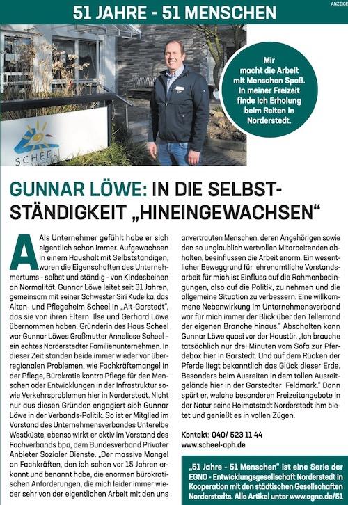 """Gunnar Löwe: In die Selbstständigkeit """"Hineingewachsen"""""""