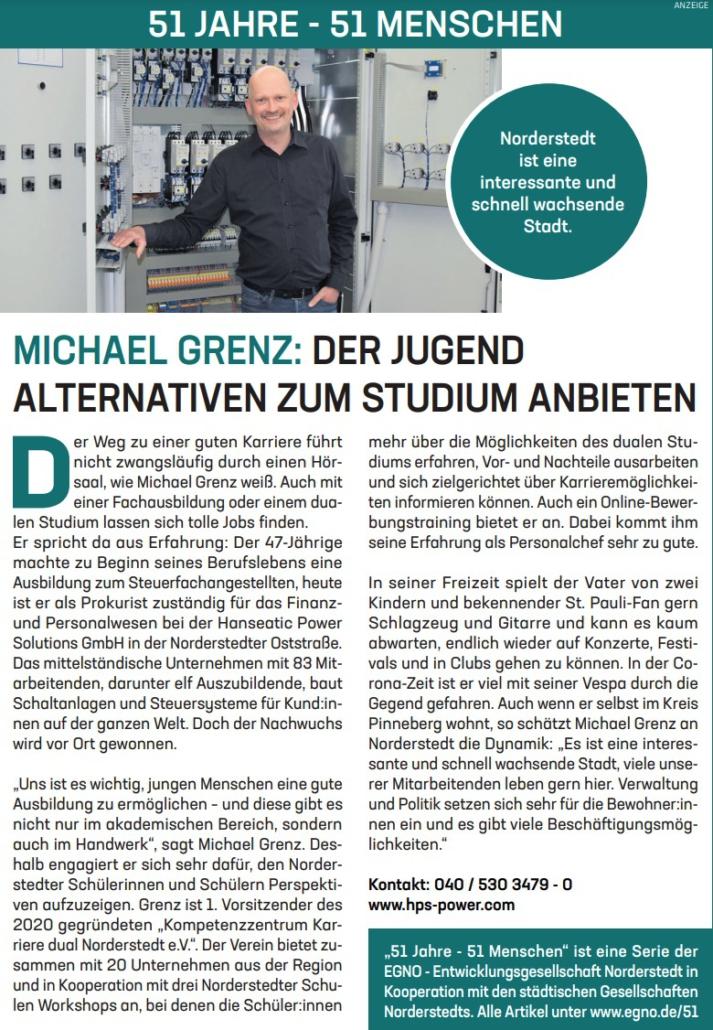Michael Grenz: der Jugend Alternativen zum Studium anbieten.