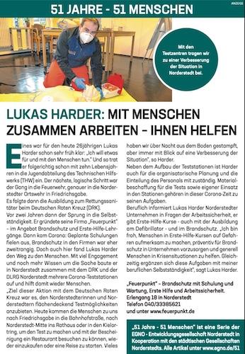 Lukas Harder: Mit Menschen zusammen arbeiten - Ihnen helfen