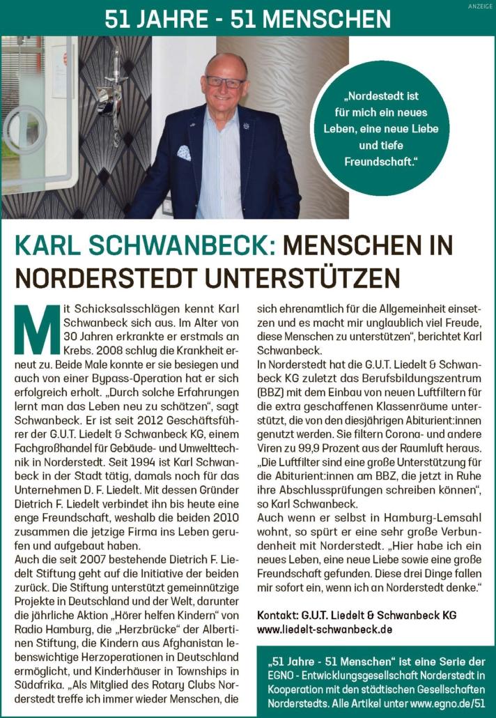 Karl Schwanbeck: Menschen in Norderstedt unterstützen