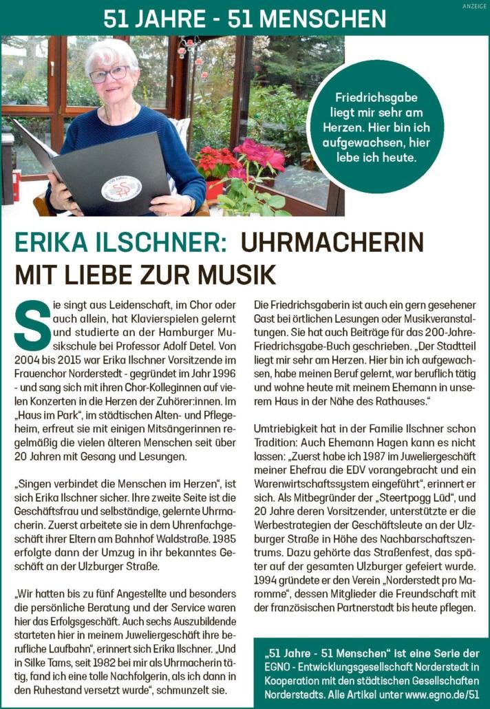 Erika Ilschner: Uhrmacherin mit Liebe zur Musik