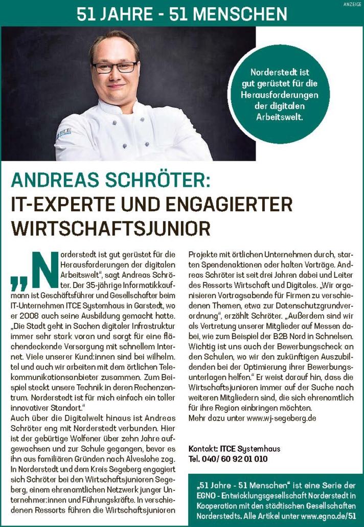 Andreas Schröter: IT-Experte und engagierter Wirtschaftsjunior