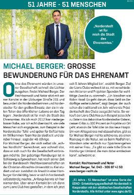 Michael Berger: Grosse Bewunderung für das Ehrenamt
