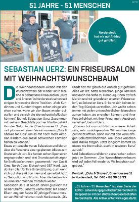 Sebastian Uerz: Ein Friseursalon mit Weihnachtswunschbaum