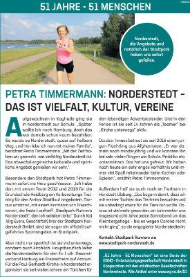 Petra Timmermann: Norderstedt – das ist Vielfalt, Kultur, Vereine