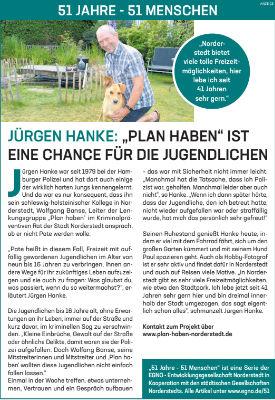 """Jürgen Hanke: """"Plan haben"""" ist eine Chance für die Jugendlichen"""