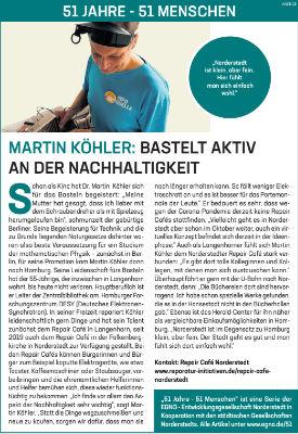 Martin Köhler: Bastelt aktiv an der Nachhaltigkeit