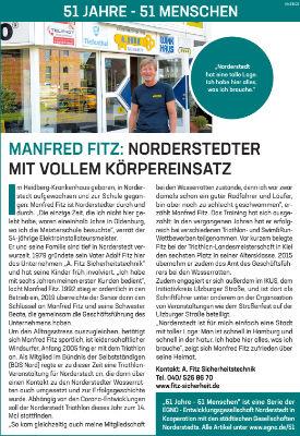 Manfred Fitz: Norderstedter mit vollem Körpereinsatz