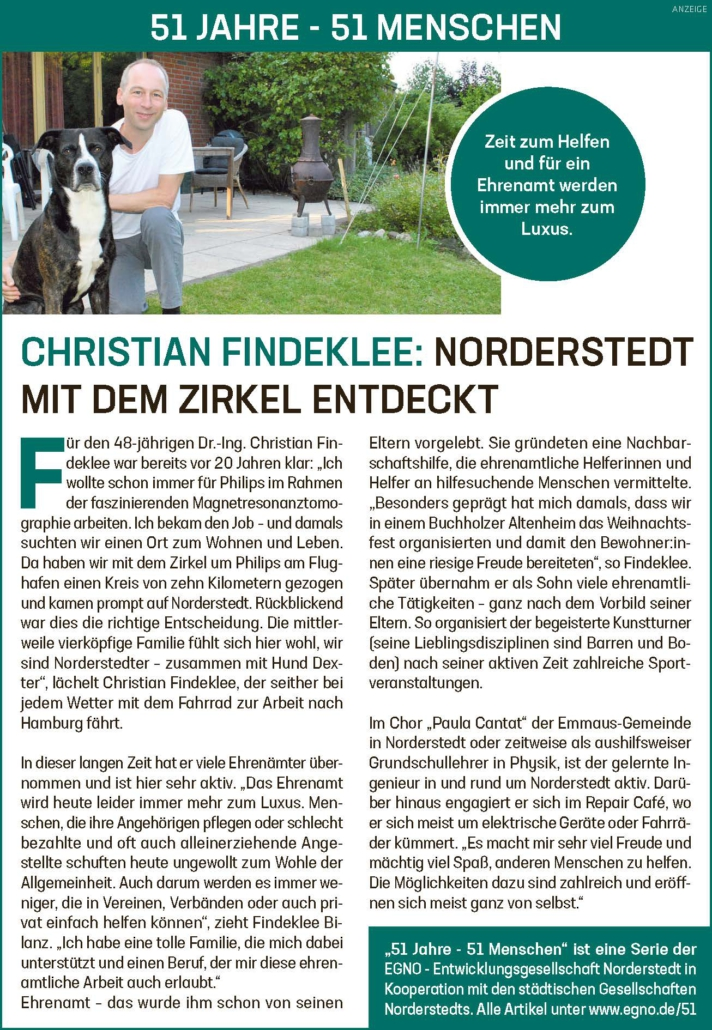 Christian Findeklee: Norderstedt mit dem Zirkel entdeckt