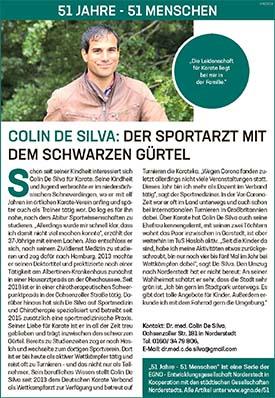 Colin de Silva: Der Sportarzt mit dem schwarzen Gürtel