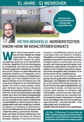 Peter Bergfeld: Norderstedter Know-how im wohltätigen Einsatz