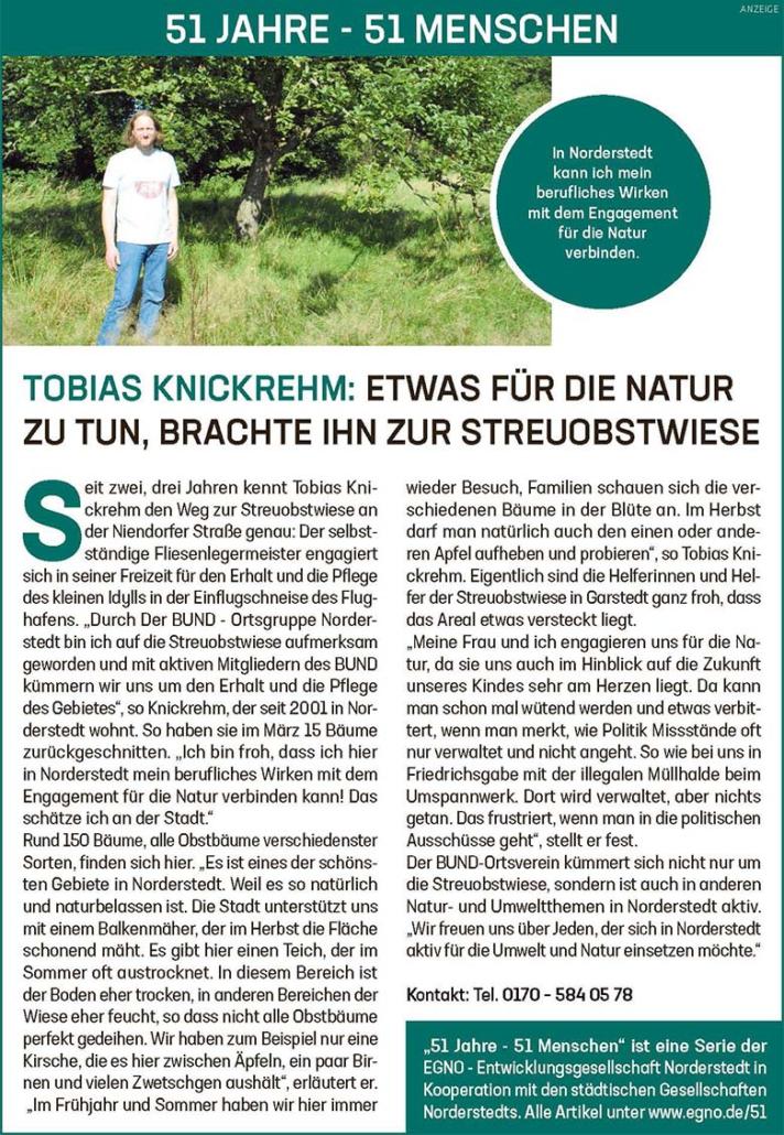 Tobias Knickrehm: Etwas für die Natur zu tun, brachte ihn zur Streuobstwiese