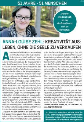 Anna-Louise Zehl: Kreativität ausleben, ohne die Seele zu verkaufen